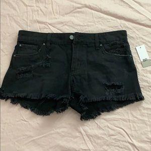 BP black ripped denim shorts